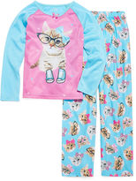 Asstd National Brand Cat 2-pc. Pajama Set - Girls 4-12