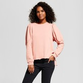 Who What Wear Women's Mutton Sleeve Sweatshirt Pink