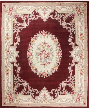"""KM Home Closeout! Palace Garden Aubusson Burgundy 3'6"""" x 5'6"""" Area Rug"""