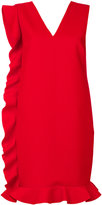 MSGM ruffled detail dress - women - Polyester/Spandex/Elastane/Viscose - 38