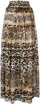 Just Cavalli printed full skirt