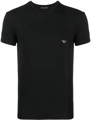 Emporio Armani logo print V-neck T-shirt
