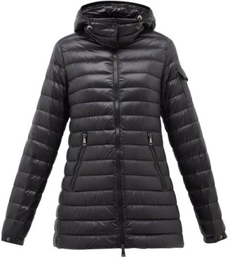 Moncler Menthe Quilted-down Hooded Jacket - Black