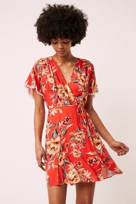 French Connenction Claribel Floral Short Sleeve Dress