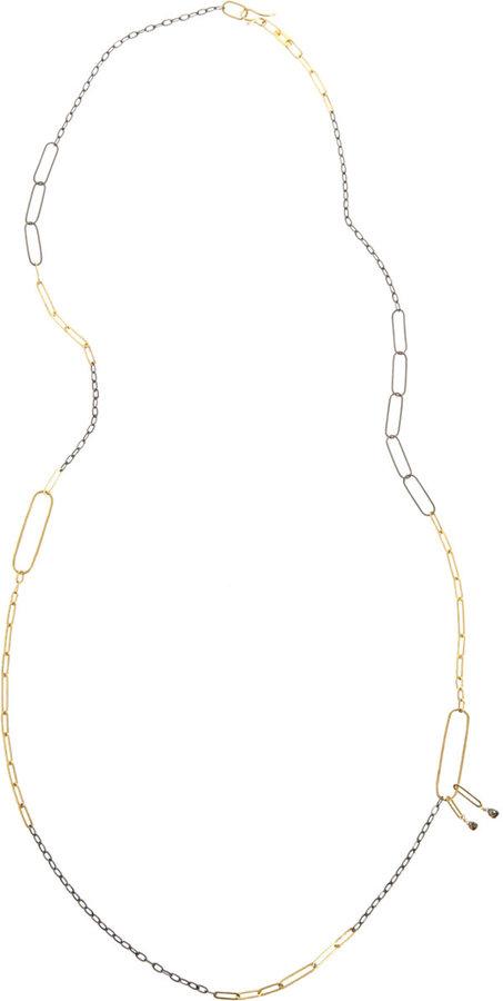 Rosanne Pugliese Cognac Diamond Chain Necklace