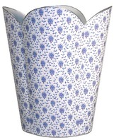The Well Appointed House Blue Provencial Decoupage Wastebasket and Optional Tissue Box