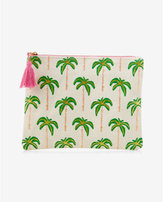 Express slant palm tree pouch