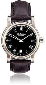 Ole Mathiesen Men's Round-Face Watch-Black