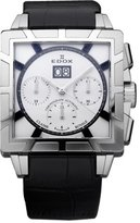 Edox Men's 45003 3 AINO Classe Royale Automatic Chronograph Sapphire Crystal Silver Dial Date Leather Watch