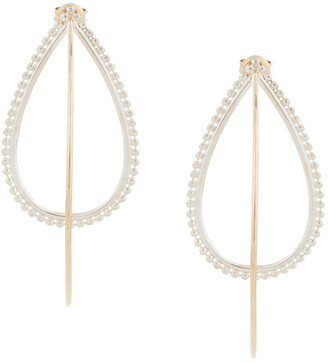Natalie Marie 9kt yellow gold and silver Dotted Hina hoops