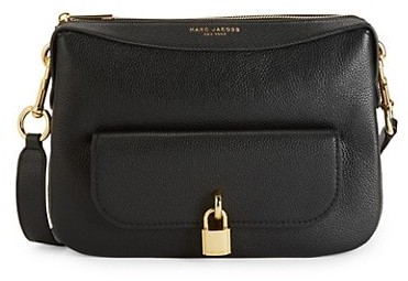 Marc Jacobs Lock That Leather Messenger Bag