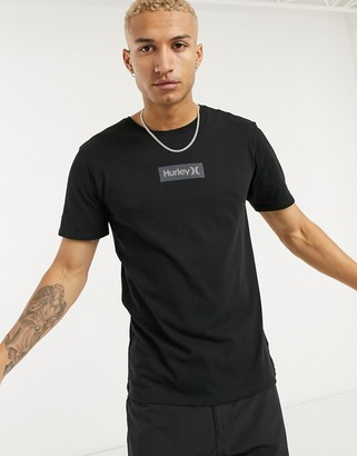 Hurley One and Only small box t-shirt in black