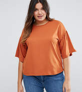 Asos T-Shirt With Ruffle Sleeve