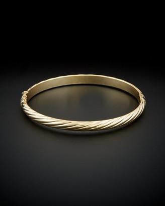 Italian Gold 14K Polished Twisted Bangle