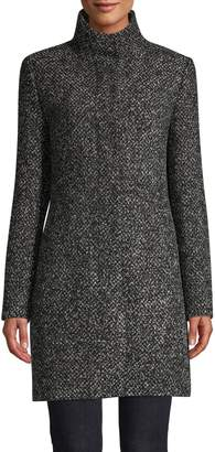 HUGO Malu High Collar Wool-Blend Coat