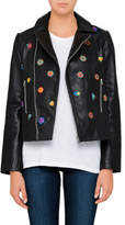 Paul Smith EMBRODIERED LEATHER BIKER JACKET