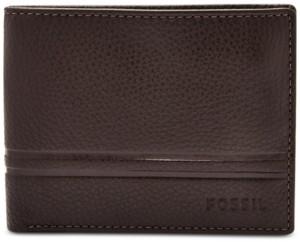 Fossil Men's Wilder Bifold Leather Wallet