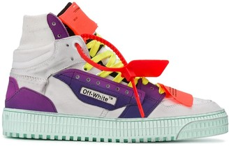 Off-White Fluo Lace-Up High-Top Sneakers
