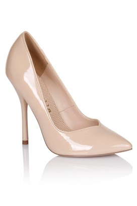 Paper Dolls Nude Patent Pointed Court Shoe