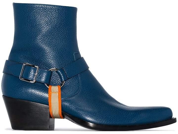 Calvin Klein harness detail boots