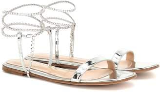Gianvito Rossi Serena metallic leather sandals