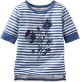 Osh Kosh Oshkosh Floral Striped Tee - Baby Girls 3m-24m