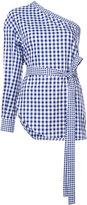 Rosetta Getty striped asymmetric blouse - women - Cotton - 2