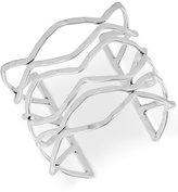 Lucky Brand Silver-Tone Open Cuff Bracelet