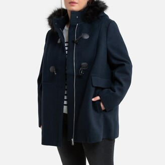 La Redoute Collections Plus Mid-Length Duffle Coat with Hood