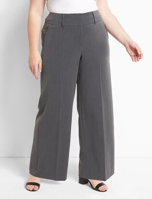 Lane Bryant Signature Fit High-Rise Wide Leg Allie Pant - Tailored Stretch