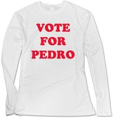 Sarah Women's Vote For Pedro Ringer Long Sleeve T-shirt S
