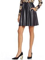 WAYF Colt Faux-Leather Flounce Skirt