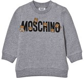 Moschino Kid-Teen Grey Multi Bear Branded Sweatshirt