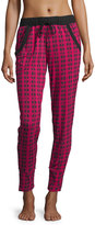 Cosabella Astaire Jogger Pants, Deep Ruby/Black
