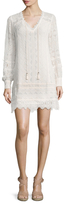 Nanette Lepore Villa Silk Lace Shift Dress