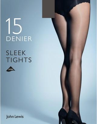 John Lewis & Partners 15 Denier Sleek Tights, Pack of 1