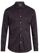 John Varvatos Crosshatch-print Cotton Shirt