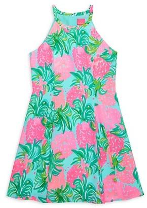 Lilly Pulitzer Girl's Fernanda Pineapple Shake Dress