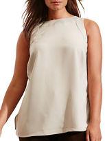 Lauren Ralph Lauren Plus Solid Sleeveless Tank Top