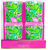 Lilly Pulitzer Painted Palm Acrylic Double Old Fashioned Glass Set