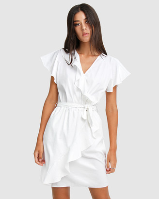 Belle & Bloom Women's White Mini Dresses - Best Selfie Ruffle Dress - Size One Size, S at The Iconic