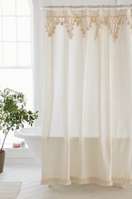 Urban Outfitters Topanga Fringe Shower Curtain