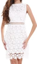 YACUN Women's Sleeveless Lace Shift Dress