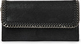 Stella McCartney Falabella faux-suede continental wallet