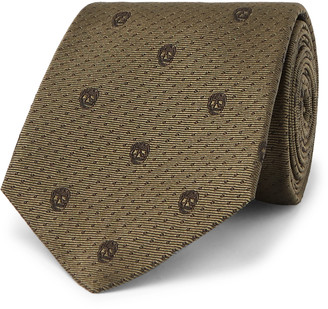 Alexander McQueen 8cm Silk-Jacquard Tie