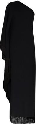 Taller Marmo One-Shoulder Fringed Maxi Dress