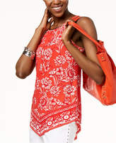 INC International Concepts I.n.c. Printed Necklace Top, Created for Macy's