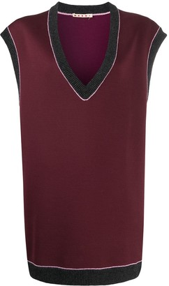 Marni oversized V-neck vest