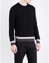 Armani Jeans Striped-hem Knitted Jumper