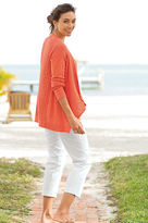 J. Jill Linen & cotton mixed-rib cardigan